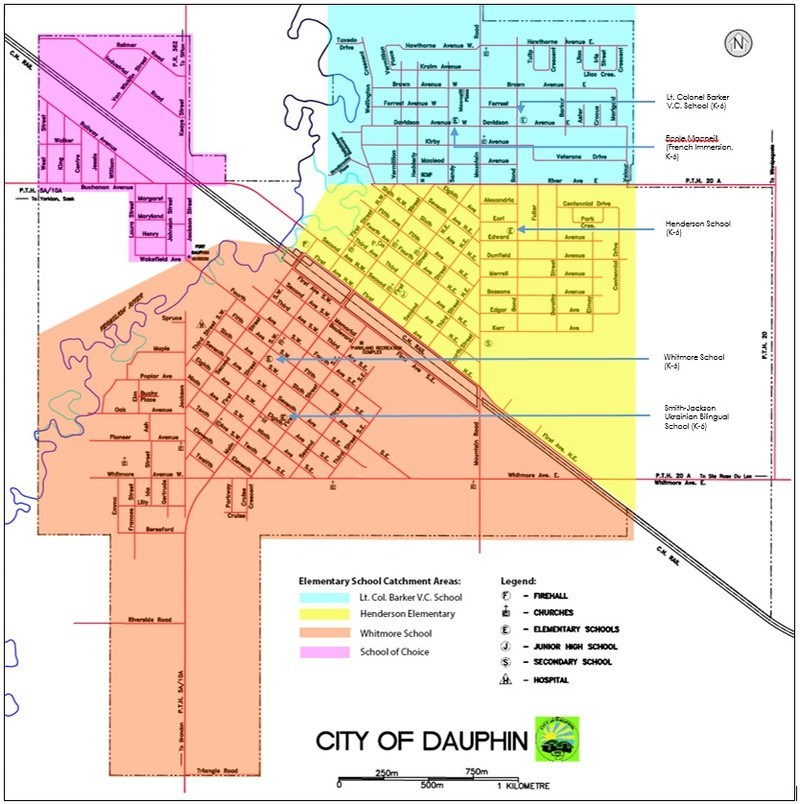 City of Dauphin Elementary School Catchment Areas