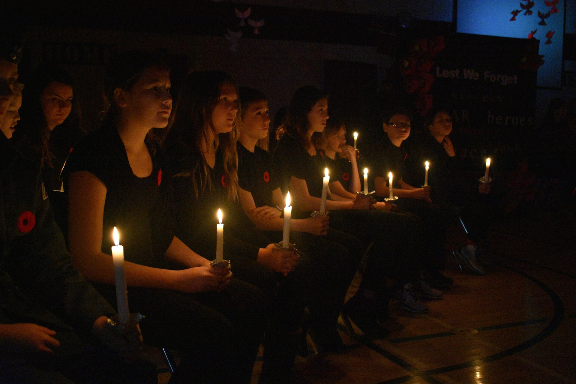 Students at Remembrance Day Ceremony