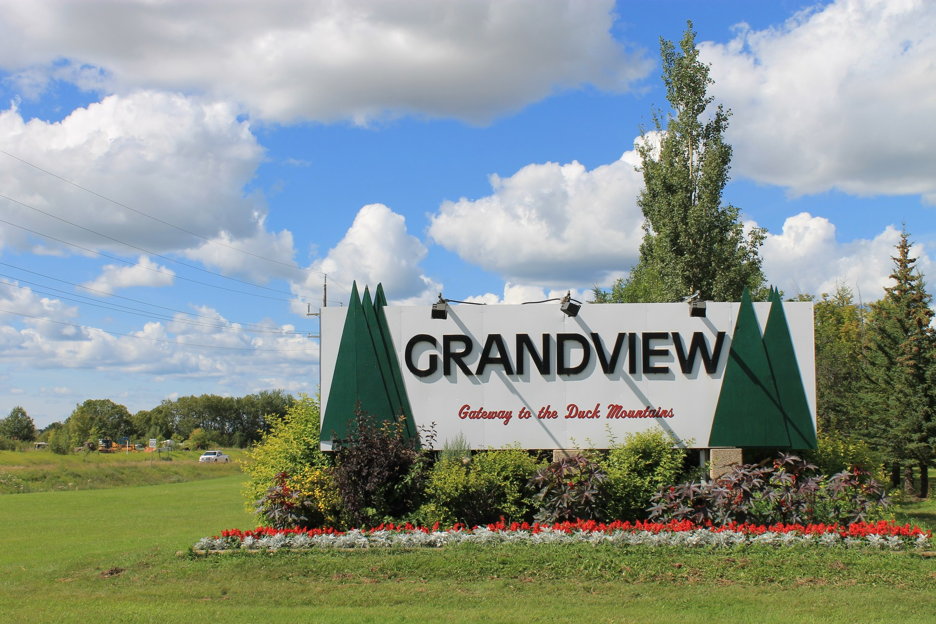 Grandview welcome sign