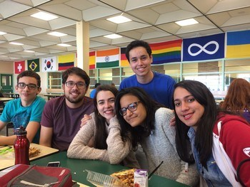 students at cafeteria in DRCSS