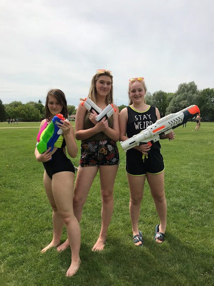 Students ready for a water fight